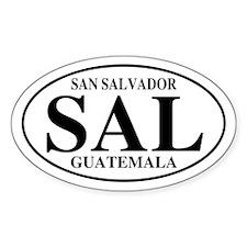 SAL San Salvador Oval Decal