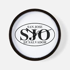 SJO San Jose Wall Clock