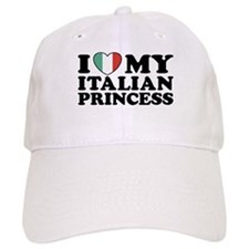 I Love My Italian Princess Baseball Cap
