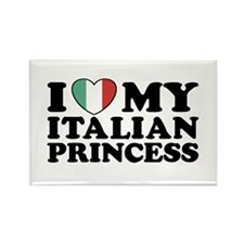 I Love My Italian Princess Rectangle Magnet