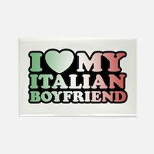 I Love My Italian Boyfriend Rectangle Magnet