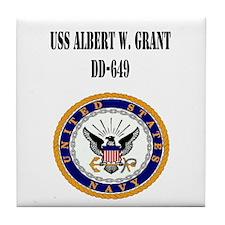 USS ALBERT W. GRANT Tile Coaster