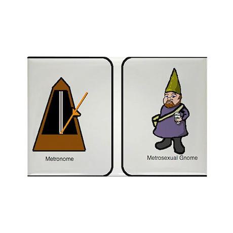 Metro Gnome Rectangle Magnet