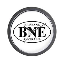 BNE Brisbane Wall Clock