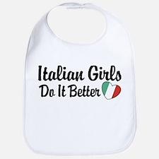 Italian Girls Do It Better Bib