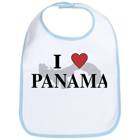 I Love Panama Bib