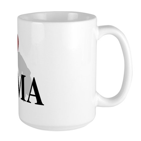 I Love Panama Large Mug