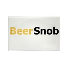 Bubbly Beer Snob Rectangle Magnet