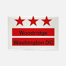 Woodridge - D.C . Flag Inspir Rectangle Magnet