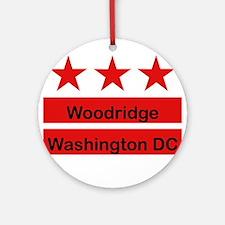 Woodridge - D.C . Flag Inspir Ornament (Round)