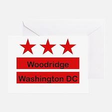 Woodridge - D.C . Flag Inspir Greeting Card