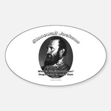 Stonewall Jackson 01 Oval Decal