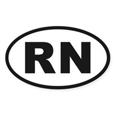 RN Oval Stickers