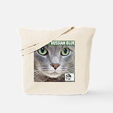 Russian Blue Cat Tote Bag