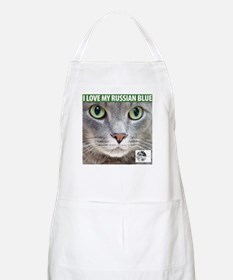 Russian Blue Cat BBQ Apron