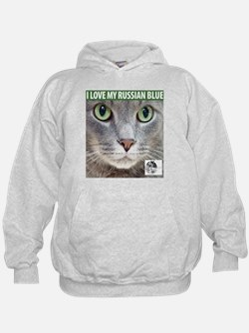 Russian Blue Cat Hoodie