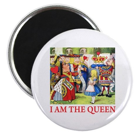 """I AM THE QUEEN 2.25"""" Magnet (100 pack)"""