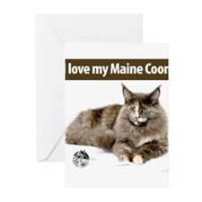 Maine Coon Cat Greeting Cards (Pk of 10)