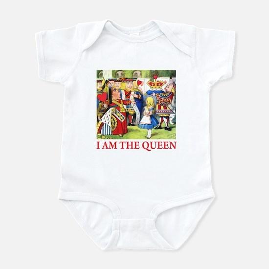 I AM THE QUEEN Infant Bodysuit