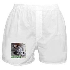 Grey Cat Boxer Shorts