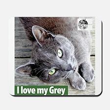 Grey Cat Mousepad