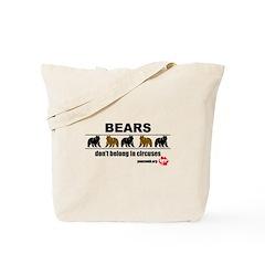 Bears don't belong in Circuse Tote Bag