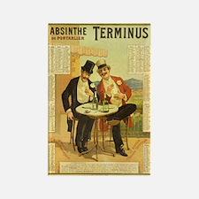 Absinthe Terminus Rectangle Magnet
