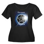 Pagan Women's Plus Size Scoop Neck Dark T-Shirt