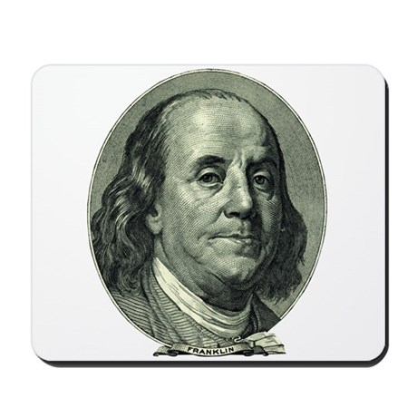 Ben Franklin Hundred Dollar Bill Mousepad