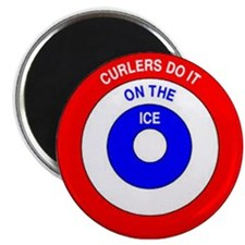 Curling Rocks Magnet
