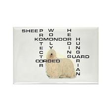 Komondor crossword Rectangle Magnet