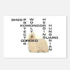 Komondor crossword Postcards (Package of 8)