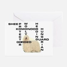 Komondor crossword Greeting Cards (Pk of 10)