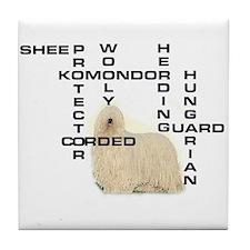 Komondor crossword Tile Coaster