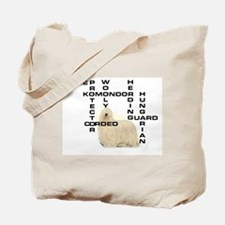 Komondor crossword Tote Bag