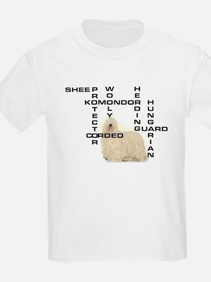 Komondor crossword Kids T-Shirt