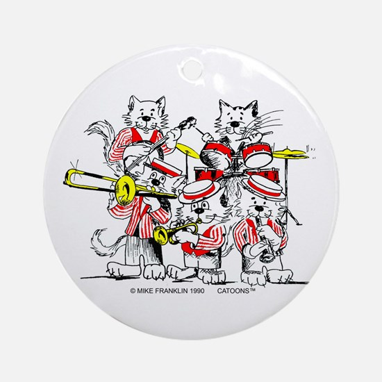 The Jazz Cats Ornament (Round)