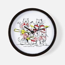 The Jazz Cats Wall Clock