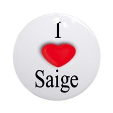 Saige Ornament (Round)