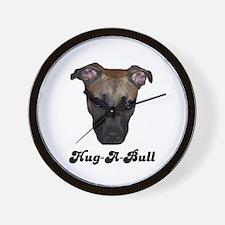 HUG-A-BULL (PIT BULL) Wall Clock