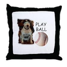 PLAY BALL (PIT BULL) Throw Pillow