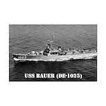 USS BAUER Mini Poster Print