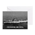 USS BAUER Greeting Cards (Pk of 10)