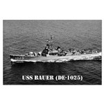 USS BAUER Large Poster