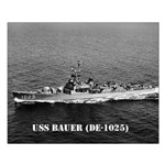 USS BAUER Small Poster