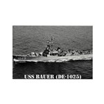 USS BAUER Rectangle Magnet (100 pack)