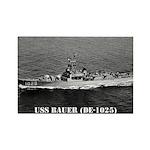 USS BAUER Rectangle Magnet