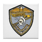 USS BAUER Tile Coaster