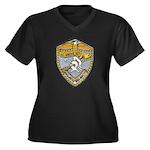 USS BAUER Women's Plus Size V-Neck Dark T-Shirt