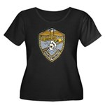 USS BAUER Women's Plus Size Scoop Neck Dark T-Shir